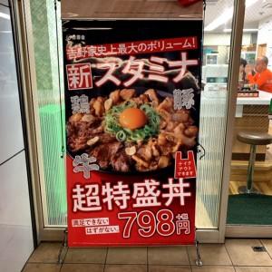 新スタミナ超特盛丼